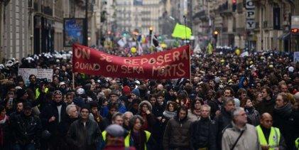 Más de un millón y medio en las calles de Francia en una gran jornada de movilizaciones y huelga