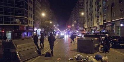 Movilización popular en el barrio de Gamonal, con enfrentamientos con la policía