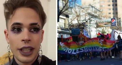 """Lo rebotaron del bar por ir maquillado: """"La discriminación existe, no son joda las marchas"""""""