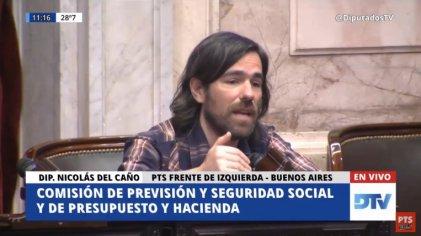 """Del Caño sobre jubilaciones: """"Muchos de los que hoy defienden esta movilidad le dieron la ley a Macri"""""""