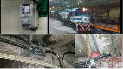 [Videos] #Tormenta: ferroviarios deben trabajar entre el agua y cables pelados