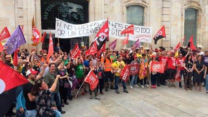 Exitosa manifestación y paro parcial de los trabajadores de Amazon