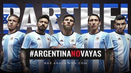 #ArgentinaNoVayas: fuerte repudio al partido entre Israel y Argentina