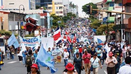 Huelga contra el ajuste en Costa Rica