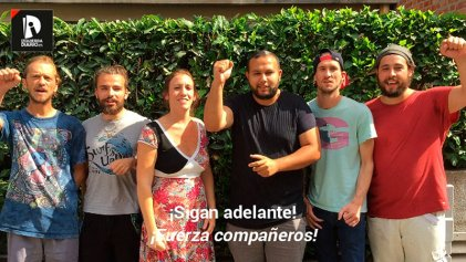 VIDEO | Los 'cheminots' franceses alientan a la plantilla de Amazon a continuar la lucha