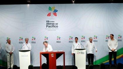 Firman un plan de acción conjunto entre la Alianza del Pacífico y el Mercosur