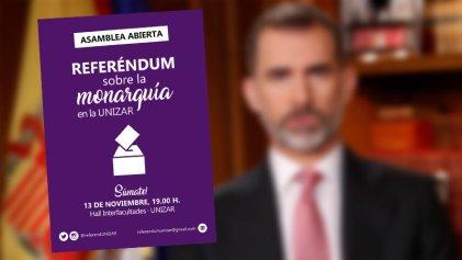 Estudiantes de Zaragoza se organizan por un referéndum contra la monarquía