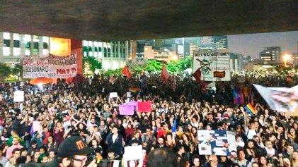 Miles marcharon contra Bolsonaro en San Pablo y fueron reprimidos
