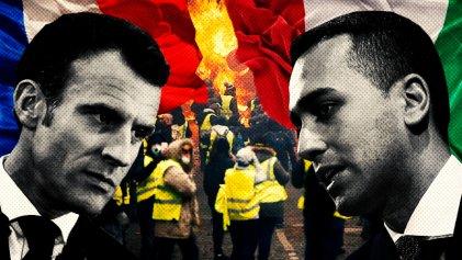 Chalecos amarillos: Macron y la extrema derecha italiana se pelean para manchar el movimento