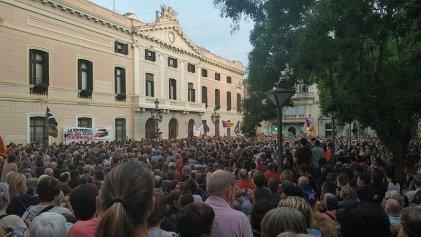 Numerosas concentraciones por la libertad de los detenidos en Catalunya