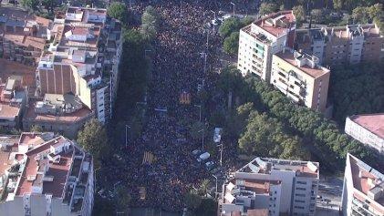 Masiva manifestación contra la represión vuelve a llenar las calles de Barcelona