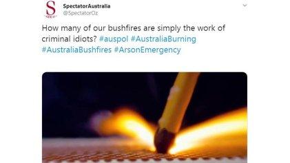 Bots y trolls buscan instalar que los incendios en Australia fueron intencionales