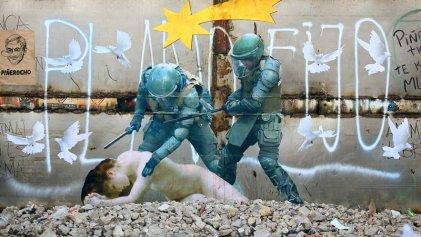 Las paredes de Santiago de Chile tras la revuelta: el arte de Caiozzama