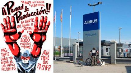 Airbus España: CGT convoca huelga indefinida ante la negativa de la empresa a parar la producción
