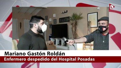 """Habla Mariano Roldán, el enfermero del Hospital Posadas despedido por """"delito de opinión"""""""