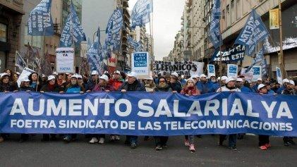 Contundente paro nacional de trabajadores de las telecomunicaciones