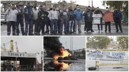 """Cuarto día de bloqueo en el Puerto de Bs. As.: """"El gobierno nos defraudó"""""""