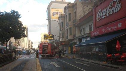 Incendio en el restorán La Farola del barrio porteño de Belgrano