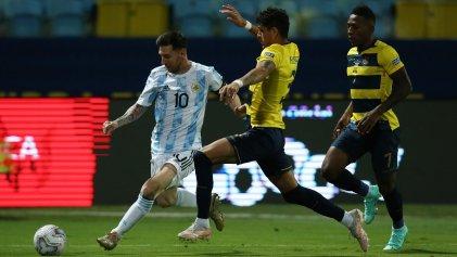 Argentina en semifinales: contundente 3-0 ante Ecuador, con un Messi brillante