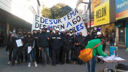 Trabajadores de EMA vuelven al centro de Quilmes contra los despidos y los cortes de luz