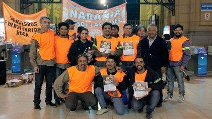 Ferroviarios realizaron acto en Constitución contra el ajuste