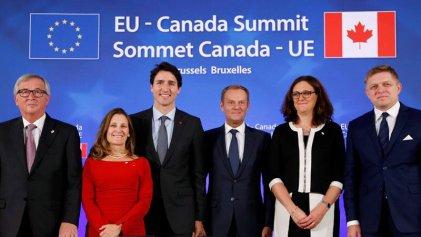La UE y Canadá pusieron en pie un polémico acuerdo comercial
