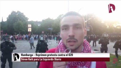 [VÍDEO] La policía reprime protestas en Hamburgo contra el G20