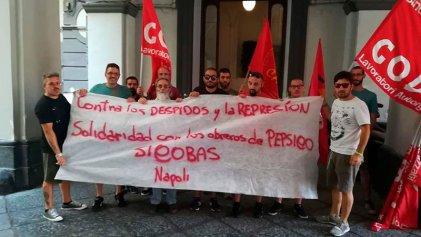Trabajadores del puerto de Nápoles se solidarizan con la lucha de PepsiCo en Argentina