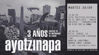 Convocan acto a 3 años de las desapariciones forzadas en Ayotzinapa