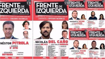 Legislativas 2017: conocé a los candidatos que acompañan a Nicolás del Caño en la quinta sección