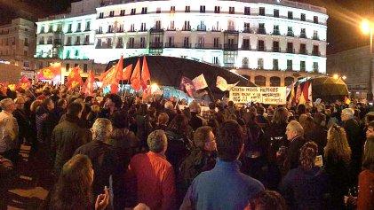 Manifestación en Madrid pide la libertad de los presos políticos catalanes