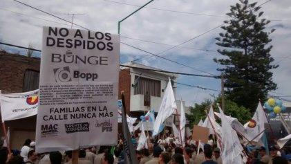 Bunge: caravana y concentración frente al Ministerio de Trabajo