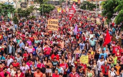 Manifestación contra Temer reúne a miles en San Pablo