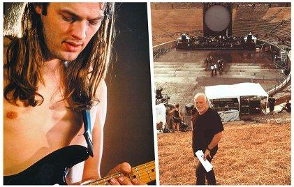 David Gilmour en Pompeya, después de 45 años
