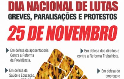 Jornada nacional de lucha contra los ataques de Temer