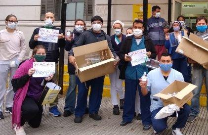 [Video] Madygraf y Hospital Rivadavia: a falta de insumos, solidaridad obrera