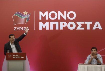 Mapa de la izquierda griega