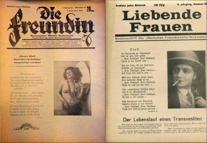 Die Freudin: la primera revista de lesbianas