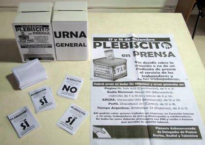 Masiva concurrencia al plebiscito por un nuevo sindicato de prensa