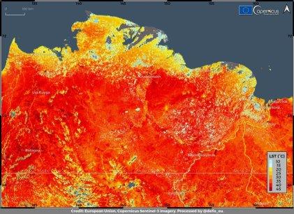 Ola de calor en Siberia: 38 ºC, la temperatura más alta de su historia