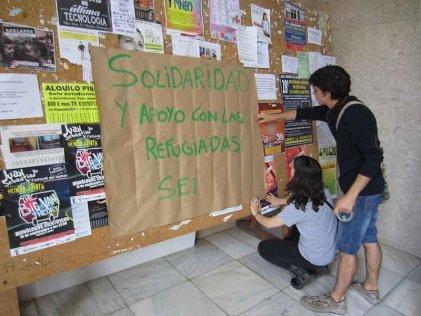 Colectivos estudiantiles impulsan campañas de solidaridad con los refugiados en Zaragoza y Barcelona