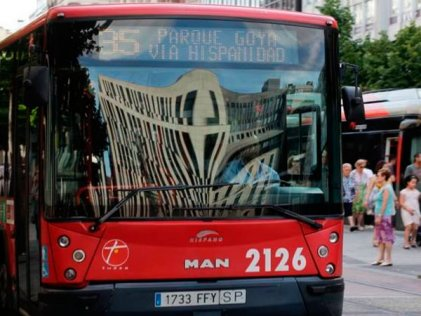 Empiezan los paros del transporte urbano de Zaragoza