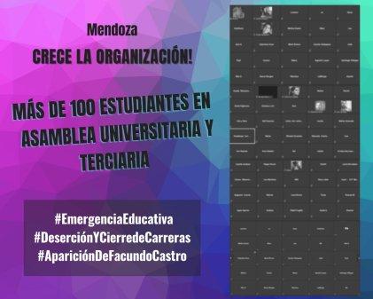 Con más de 100 estudiantes se realizó la asamblea universitaria y terciaria en Mendoza