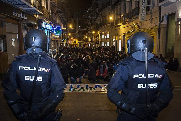 La represión policial y el desalojo del Gaztexte Maravillas inundan Iruña de solidaridad