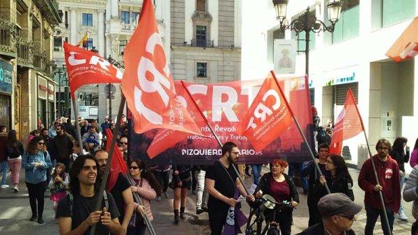 Numeroso y combativo 1º de mayo en Zaragoza