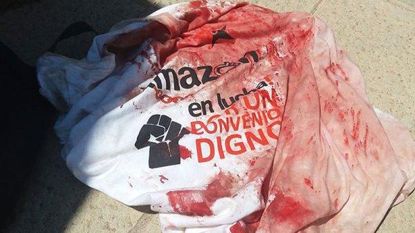 La huelga de Amazon continúa, el Gobierno del PSOE manda a la policía a reprimirla