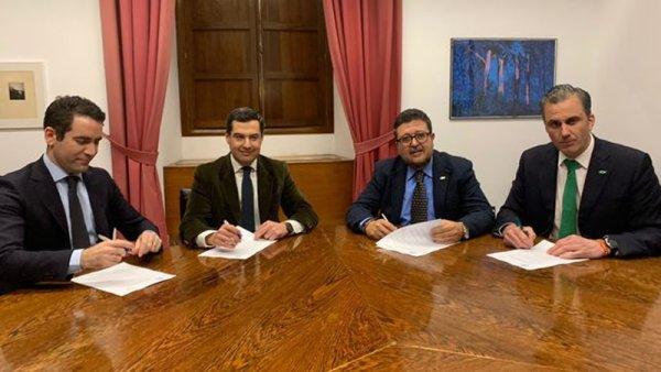 PP y Ciudadanos gobernarán Andalucía con el programa de VOX