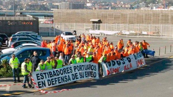 Estibadores: sube la marea de la huelga
