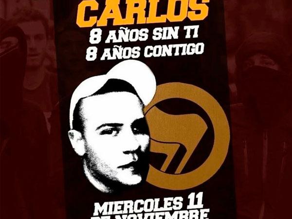 A 8 años del asesinato de Carlos Palomino: ¡Ni olvido, ni perdón!